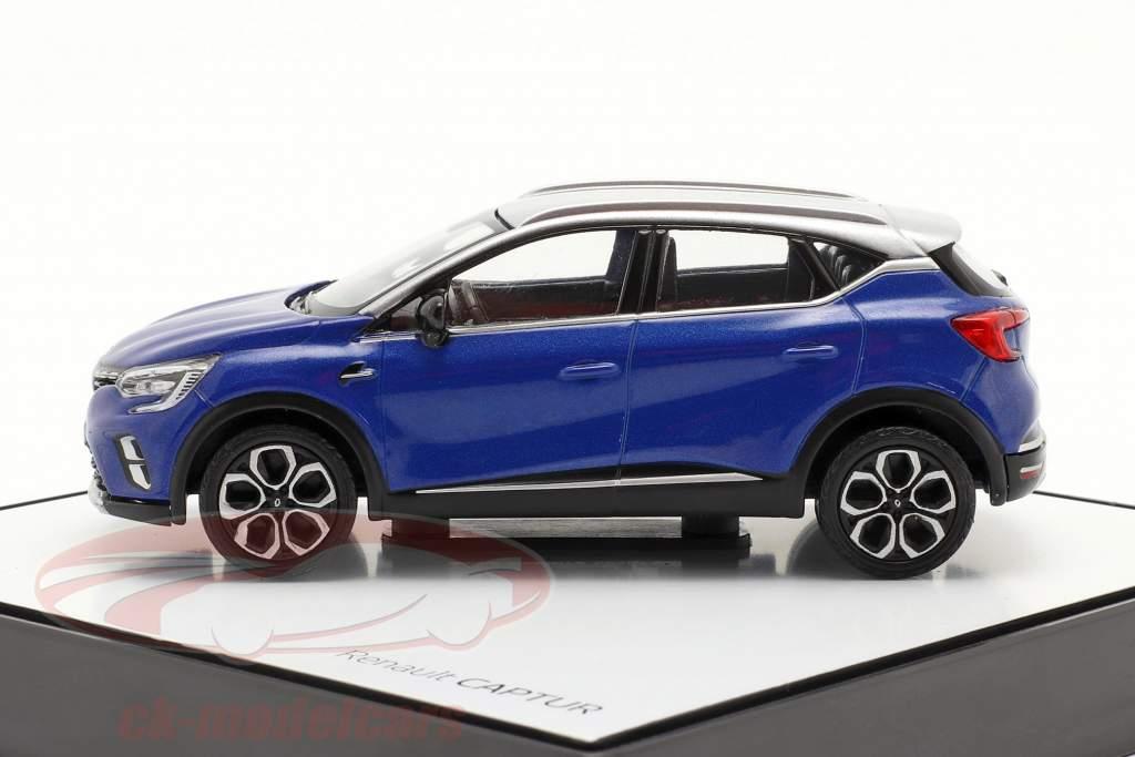 Renault Captur year 2020 blue / silver grey 1:43 Norev