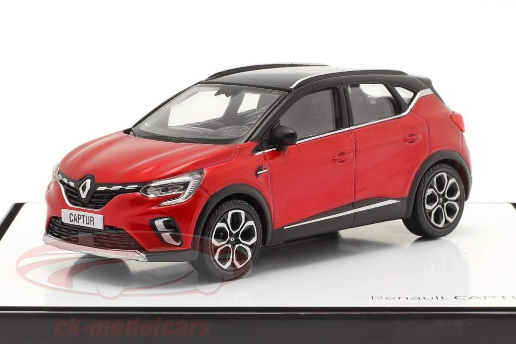 Renault Captur bouwjaar 2020 rood / zwart 1:43 Norev