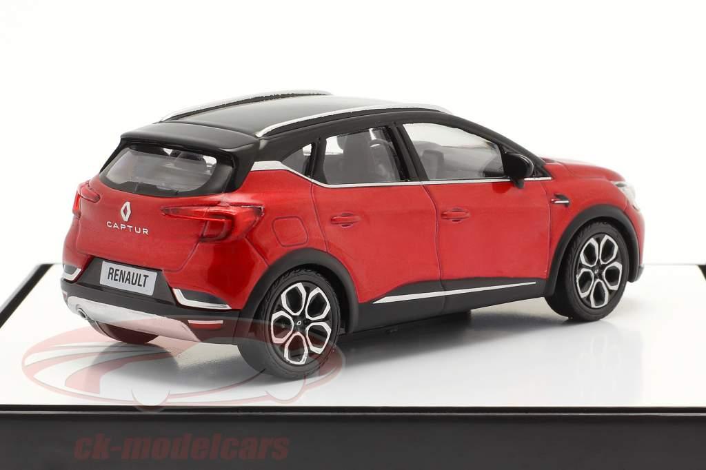 Renault Captur Année de construction 2020 rouge / noir 1:43 Norev