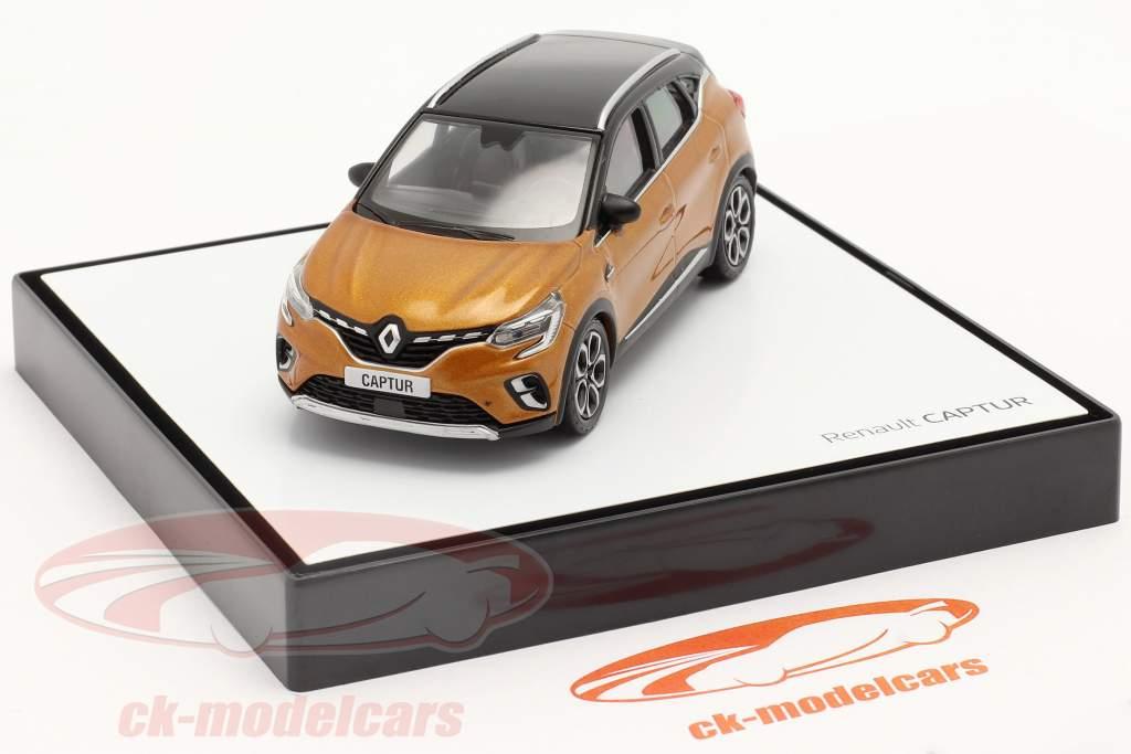 Renault Captur bouwjaar 2020 taklamakan oranje / zwart 1:43 Norev