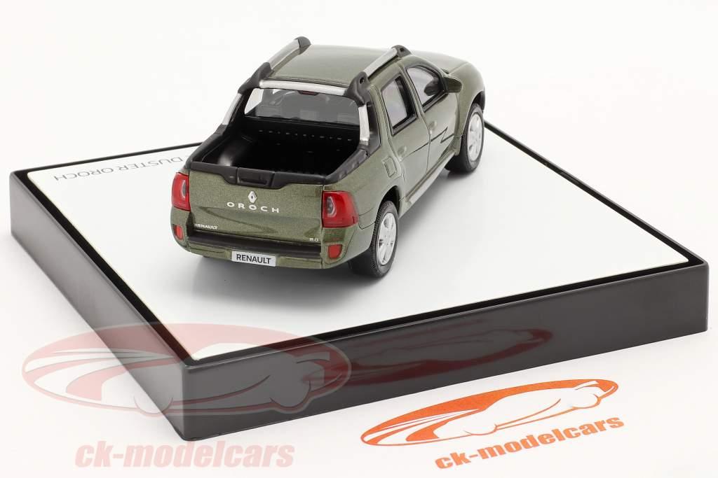 Renault Duster Oroch Pick-Up Byggeår 2015 grøn metallisk 1:43 Norev