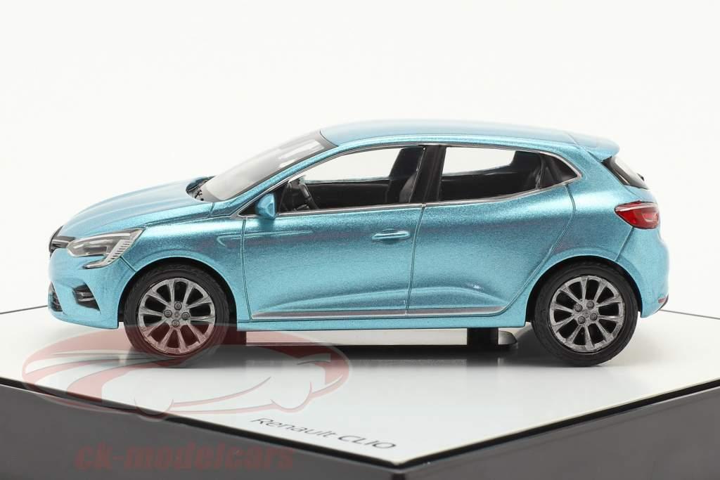 Renault Clio génération 5 Année de construction 2019 Bleu clair métallique 1:43 Norev