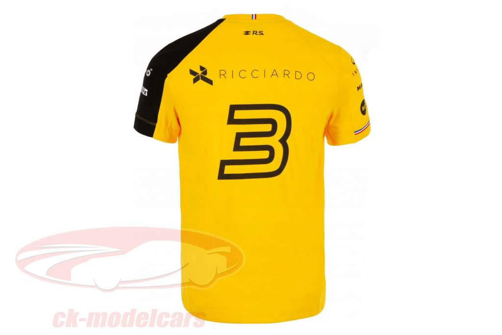 Renault F1 Team T-Shirt Formel 1 2019 #3 Daniel Ricciardo