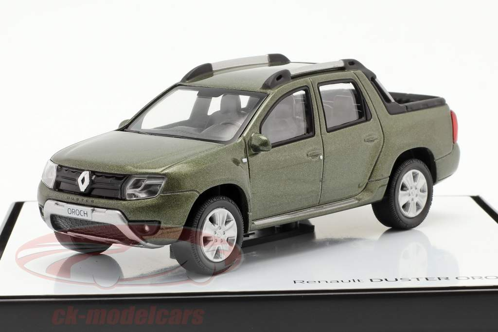 Renault Duster Oroch Pick-Up Año de construcción 2015 verde metálico 1:43 Norev