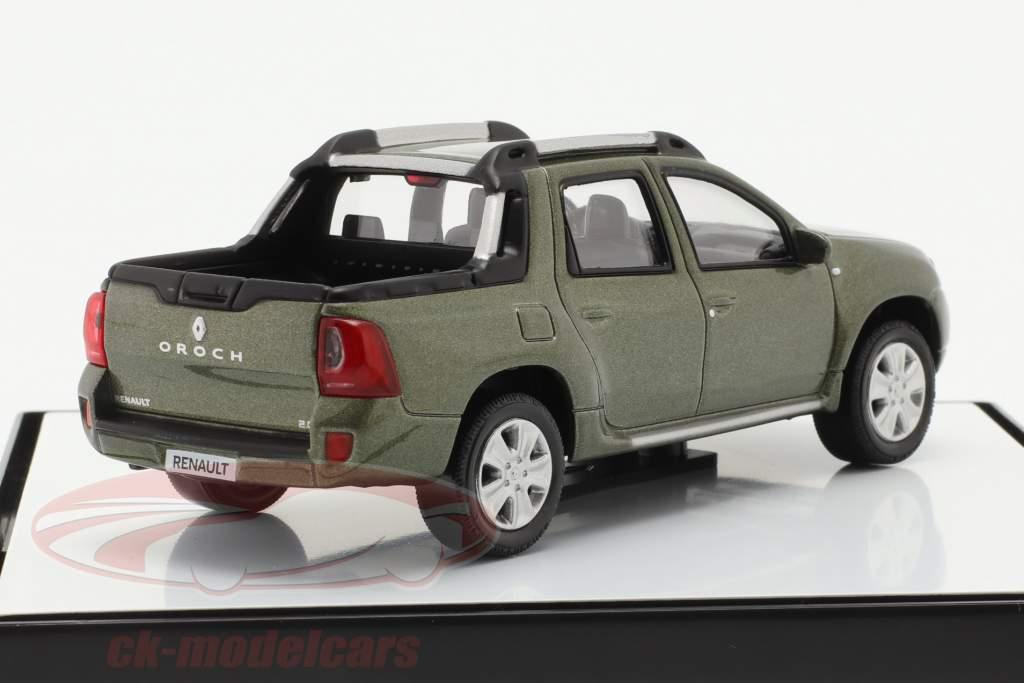 Renault Duster Oroch Pick-Up Année de construction 2015 vert métallique 1:43 Norev
