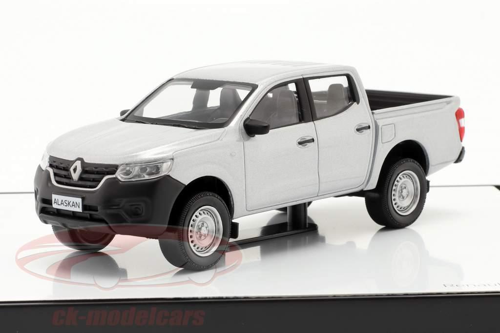 Renault Alaskan Byggeår 2018 sølvgrå metallisk 1:43 Norev