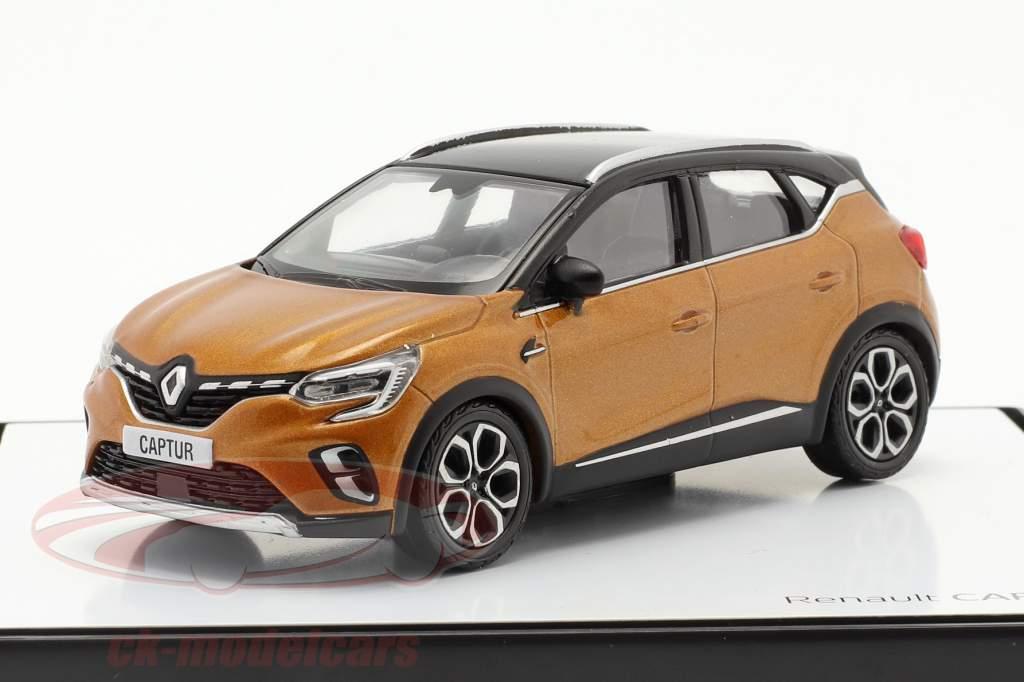 Renault Captur Año de construcción 2020 taklamakan naranja / negro 1:43 Norev