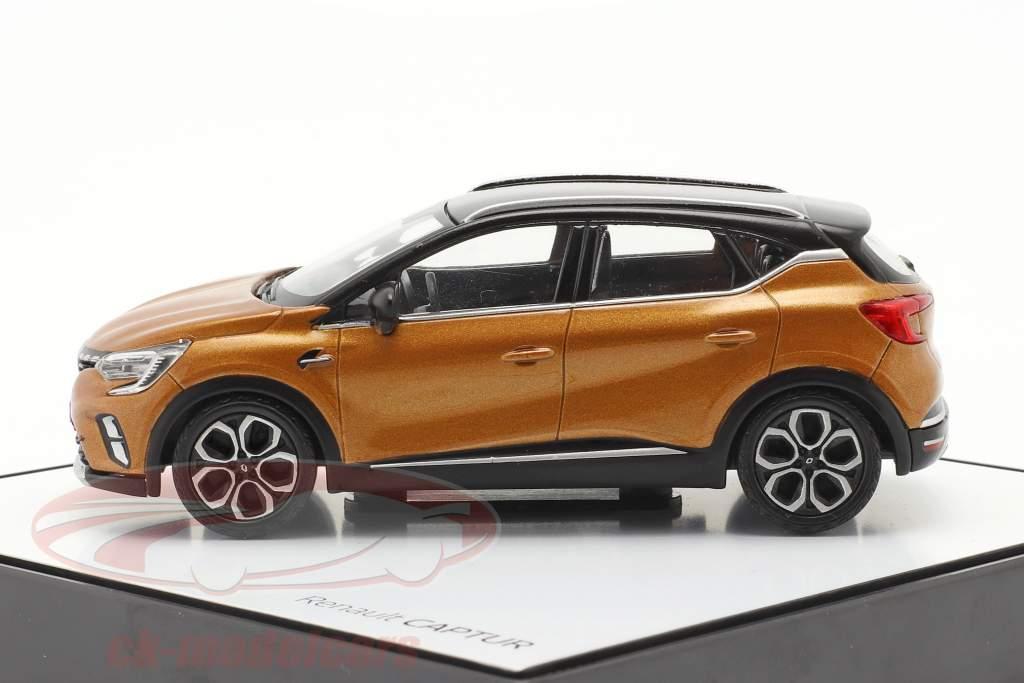 Renault Captur Baujahr 2020 taklamakan orange / schwarz 1:43 Norev