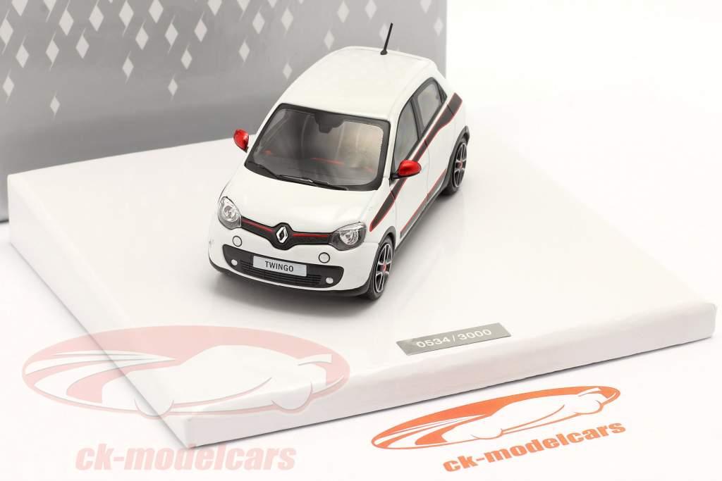 Renault Twingo geração 3 Ano de construção 2014 Branco 1:43 Norev