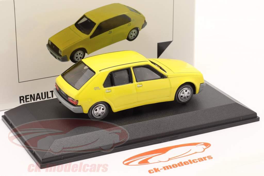 Renault 14 Año de construcción 1976 amarillo 1:43 Norev