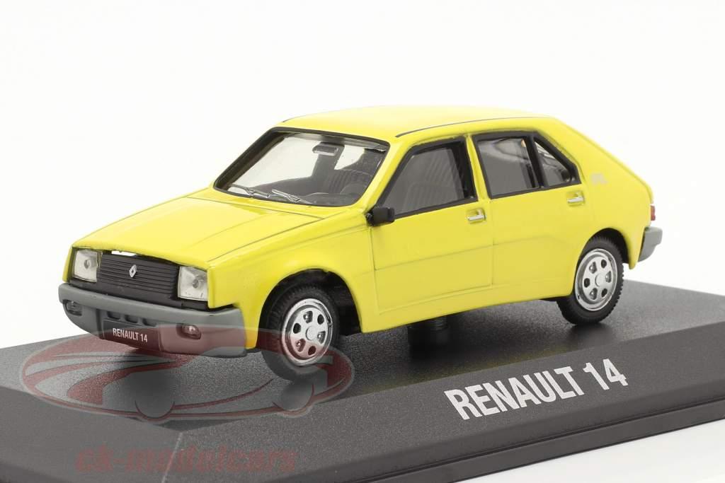 Renault 14 Byggeår 1976 gul 1:43 Norev
