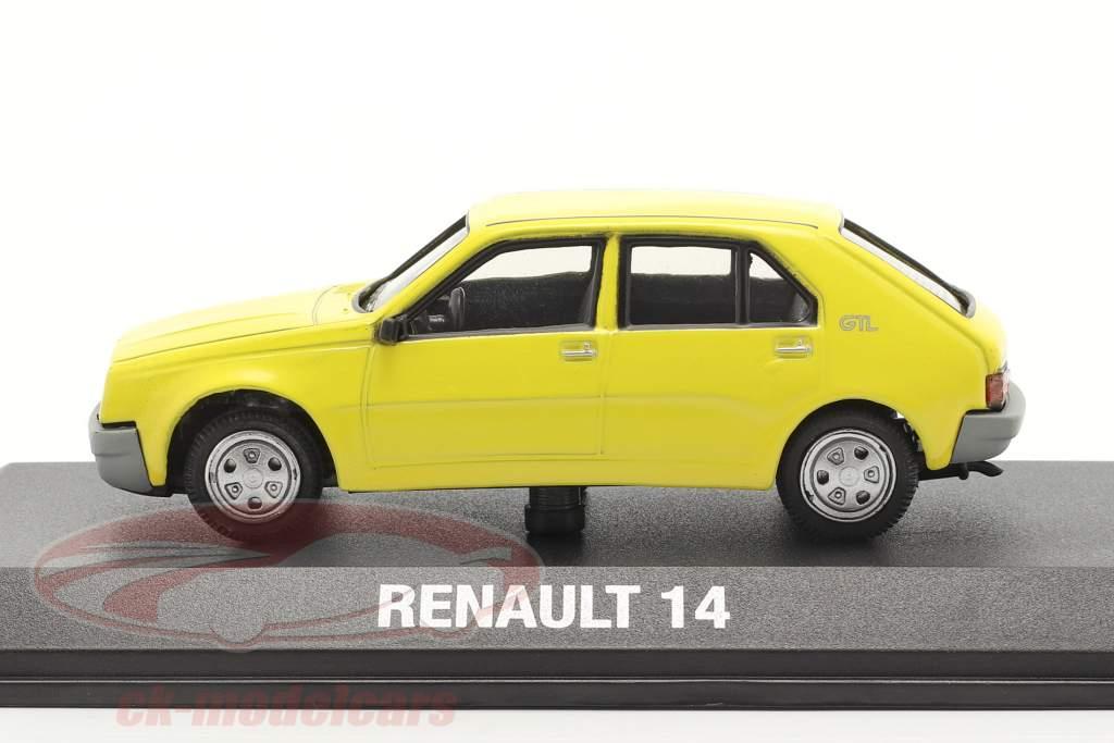 Renault 14 bouwjaar 1976 geel 1:43 Norev