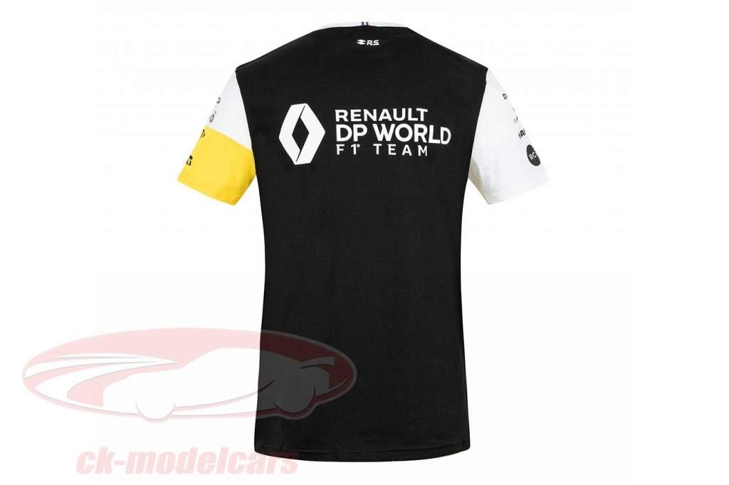 Renault DP World F1 Team Camiseta de manga corta fórmula 1 2020 negro / amarillo / blanco