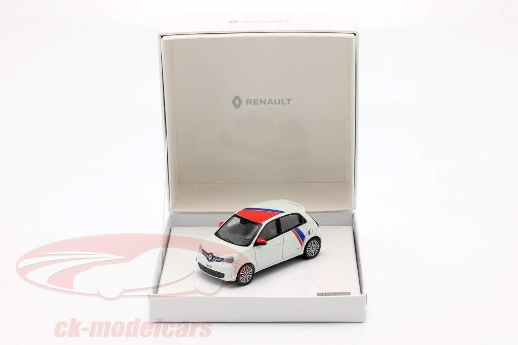 Renault Twingo generation 3 by Le Coq Sportif 2019 white / red / blue 1:43 Norev