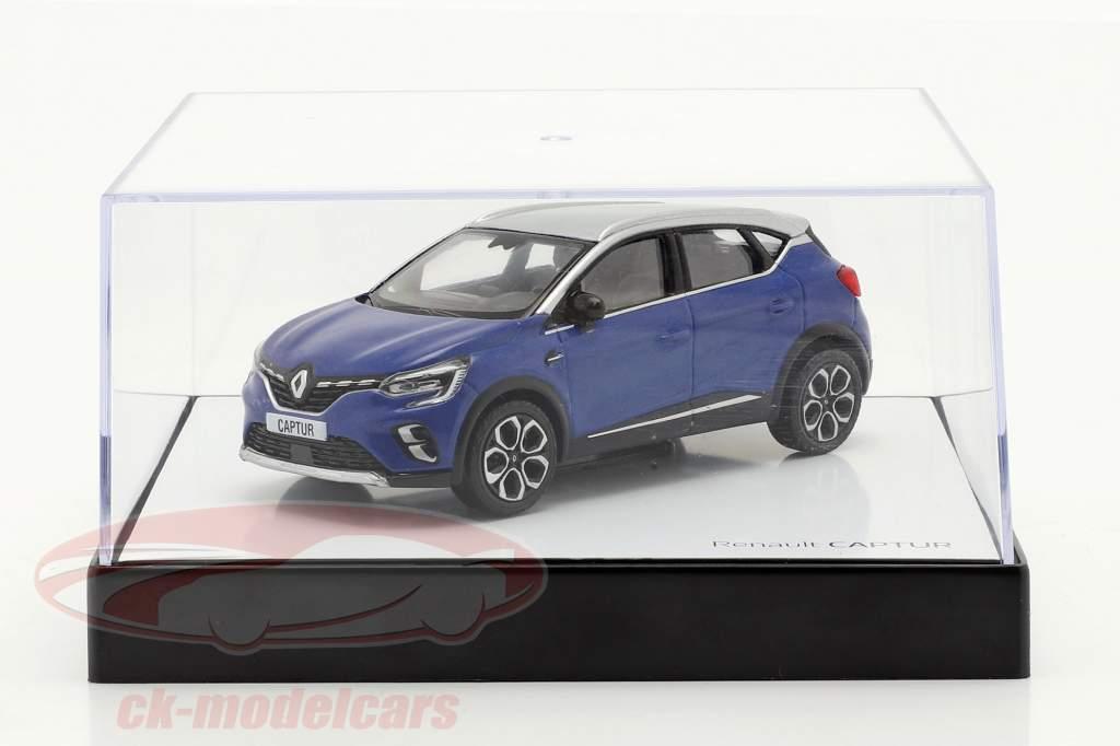 Renault Captur Año de construcción 2020 azul / gris-plata 1:43 Norev