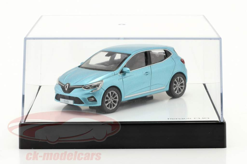 Renault Clio geração 5 Ano de construção 2019 Azul claro metálico 1:43 Norev