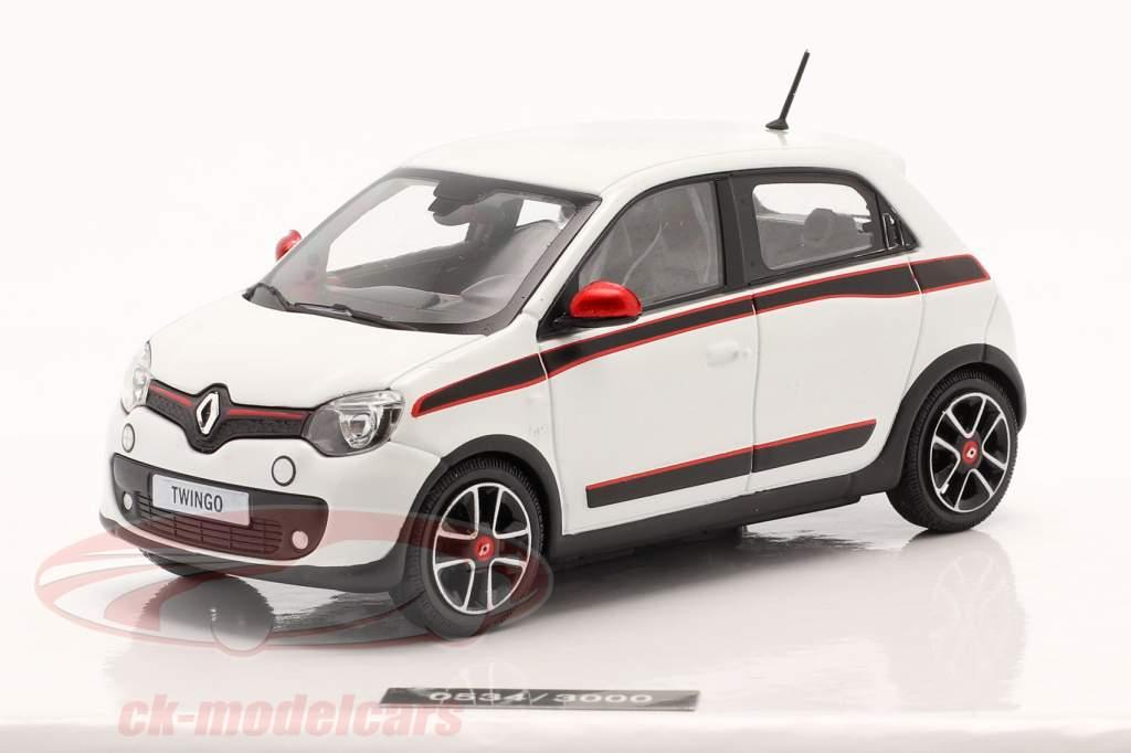 Renault Twingo generation 3 Byggeår 2014 hvid 1:43 Norev