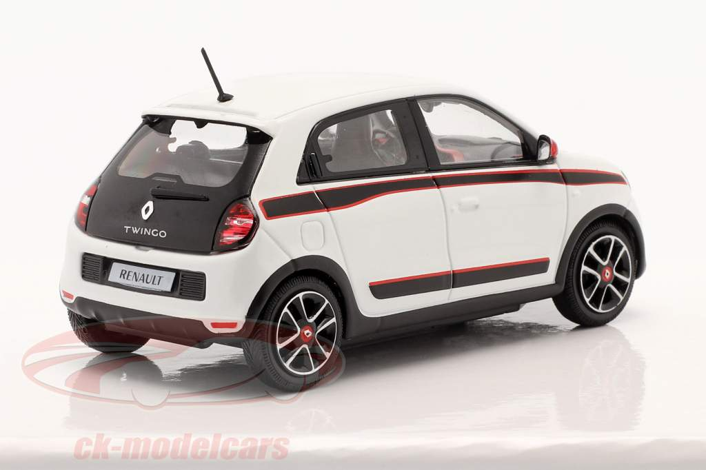 Renault Twingo generazione 3 Anno di costruzione 2014 bianca 1:43 Norev