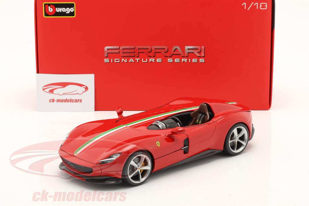 Ferrari Monza SP1 Ano de construção 2019 vermelho 1:18 Bburago
