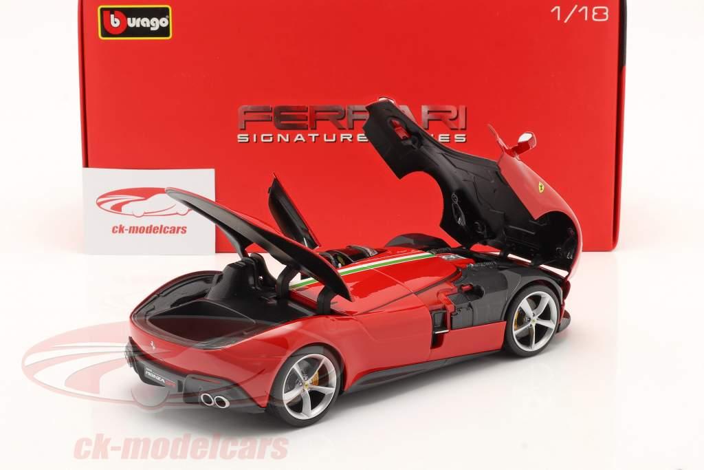 Ferrari Monza SP1 Anno di costruzione 2019 rosso 1:18 Bburago