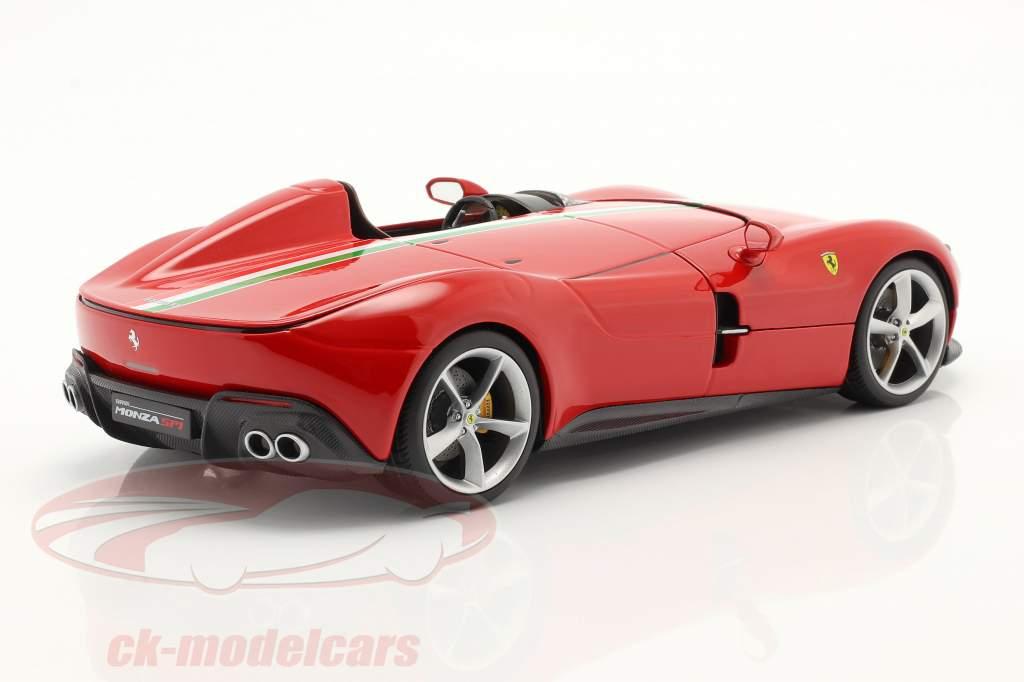 Ferrari Monza SP1 Baujahr 2019 rot 1:18 Bburago