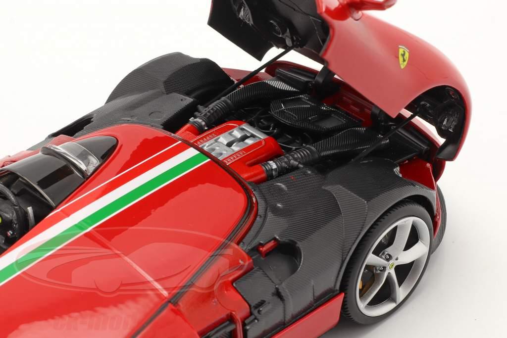Ferrari Monza SP1 bouwjaar 2019 rood 1:18 Bburago