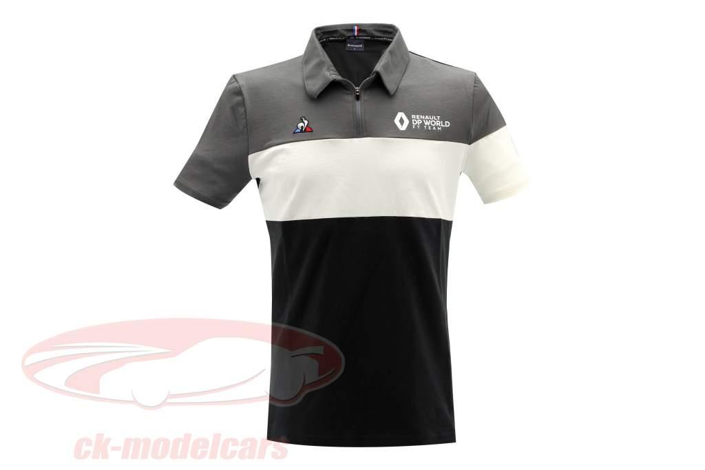 Renault DP World F1 Team Polo-Shirt Formel 1 2020 schwarz / grau / weiß