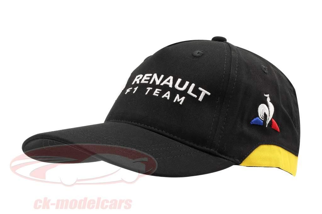 Cap Renault F1 Team sort / gul (Voksne)