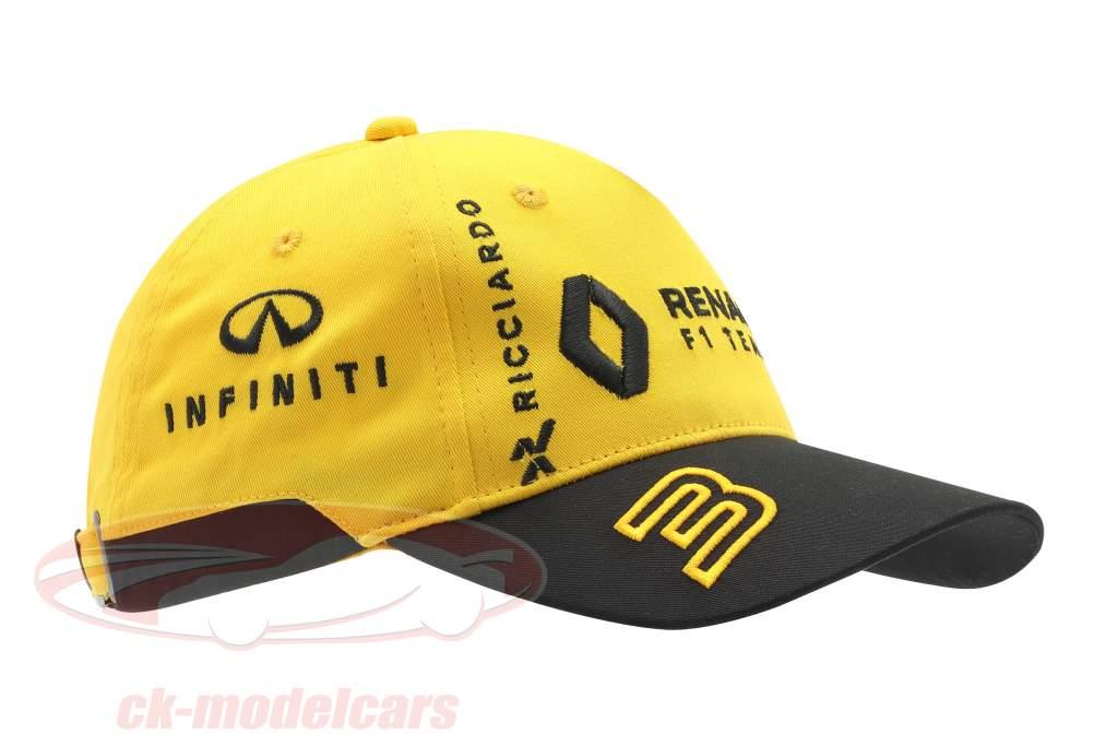 Boné Renault F1 Team 2019 #3 Ricciardo #27 Hülkenberg amarelo / Preto (Crianças)