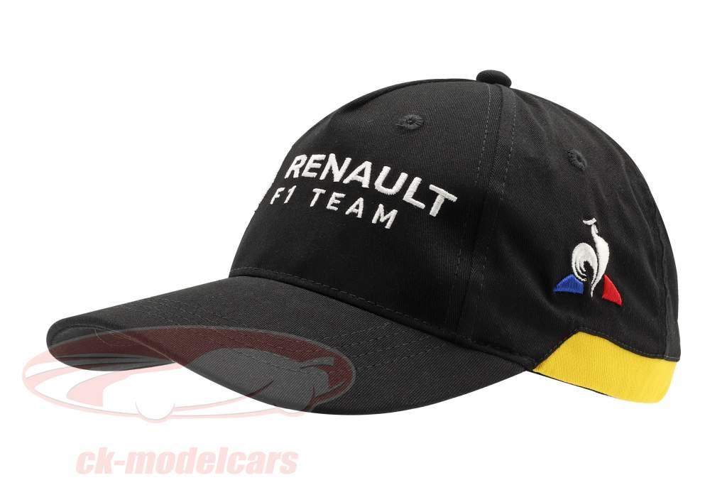 Cap Renault F1 Team sort / gul (Børn)