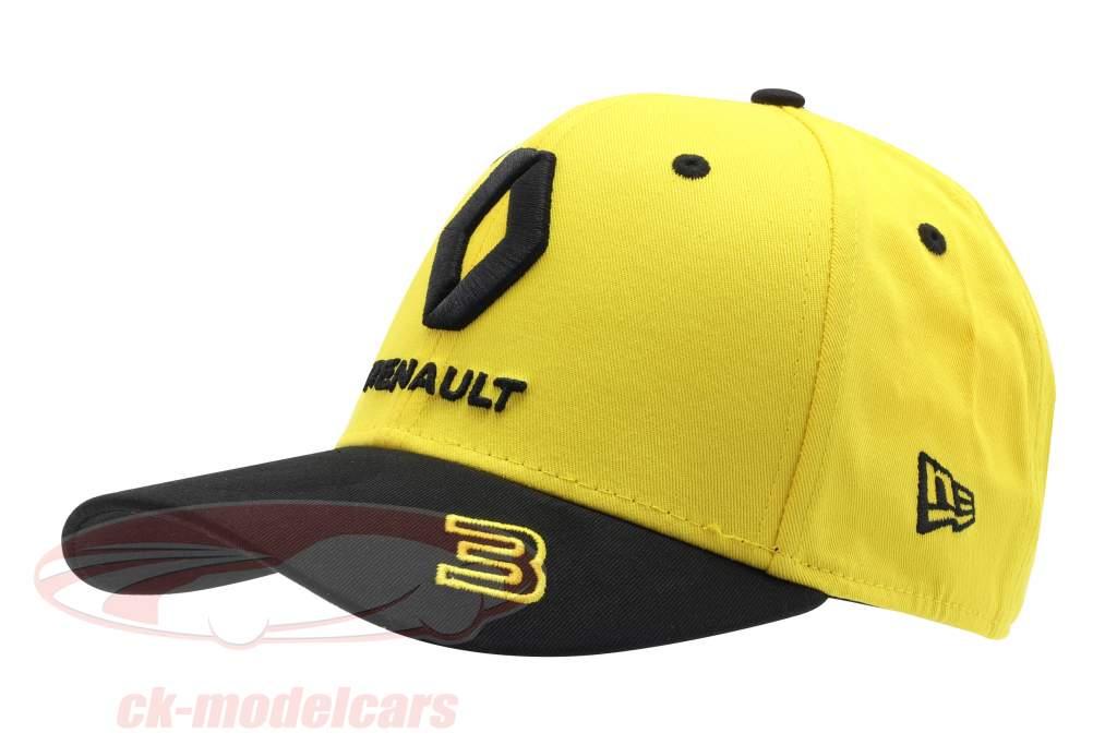 Casquette Renault F1 Team 2019 #3 Ricciardo jaune / noir Taille M / L
