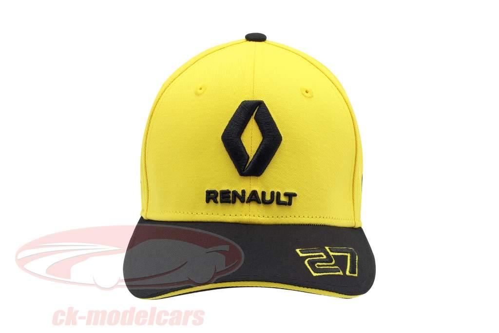 Cap Renault F1 Team 2019 #27 Hülkenberg gul / sort størrelse M / L