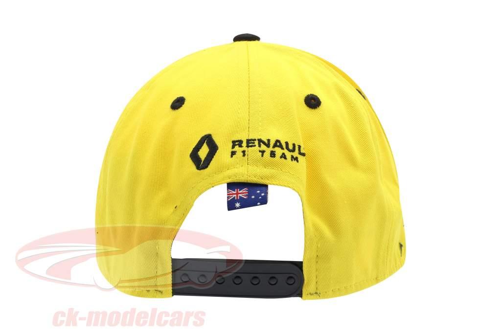 pet Renault F1 Team 2019 #3 Ricciardo geel / zwart grootte M / L