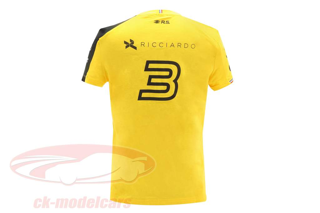 Renault F1 Team Mujeres Camiseta de manga corta fórmula 1 2019 #3 Daniel Ricciardo