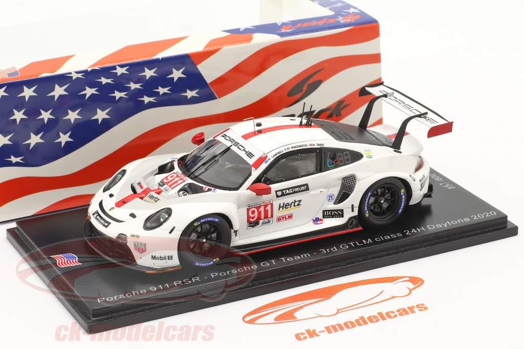 Porsche 911 RSR #911 3rd GTLM class 24h Daytona 2020 Porsche GT Team 1:43 Spark