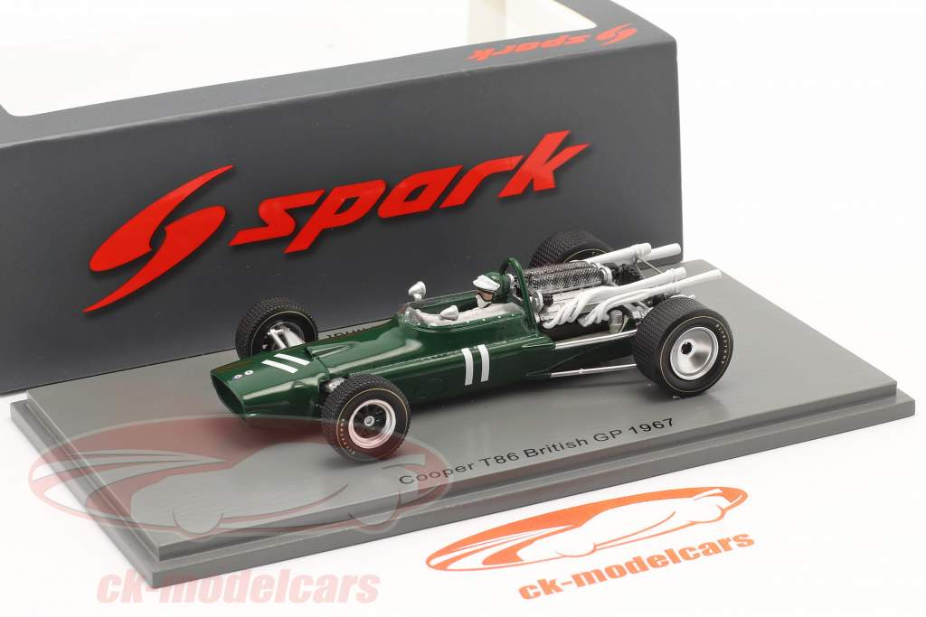 Jochen Rindt Cooper T86 #11 Britannico GP formula 1 1967 1:43 Spark
