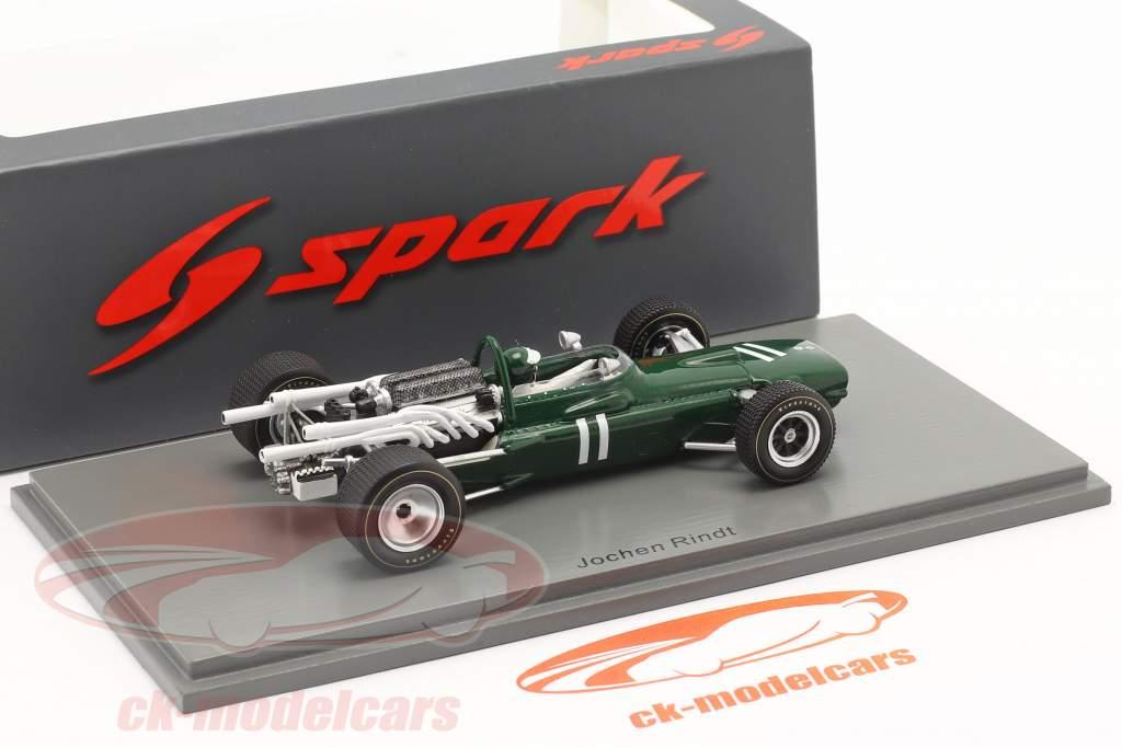 Jochen Rindt Cooper T86 #11 británico GP fórmula 1 1967 1:43 Spark