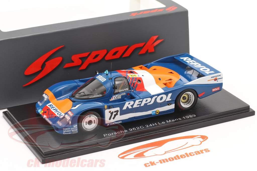 Porsche 962C #17 24h LeMans 1989 Brun Motorsport 1:43 Spark