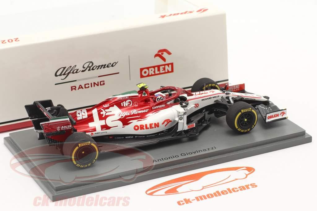 A. Giovinazzi Alfa Romeo Racing C39 #99 Emilia-Romagna GP formel 1 2020 1:43 Spark