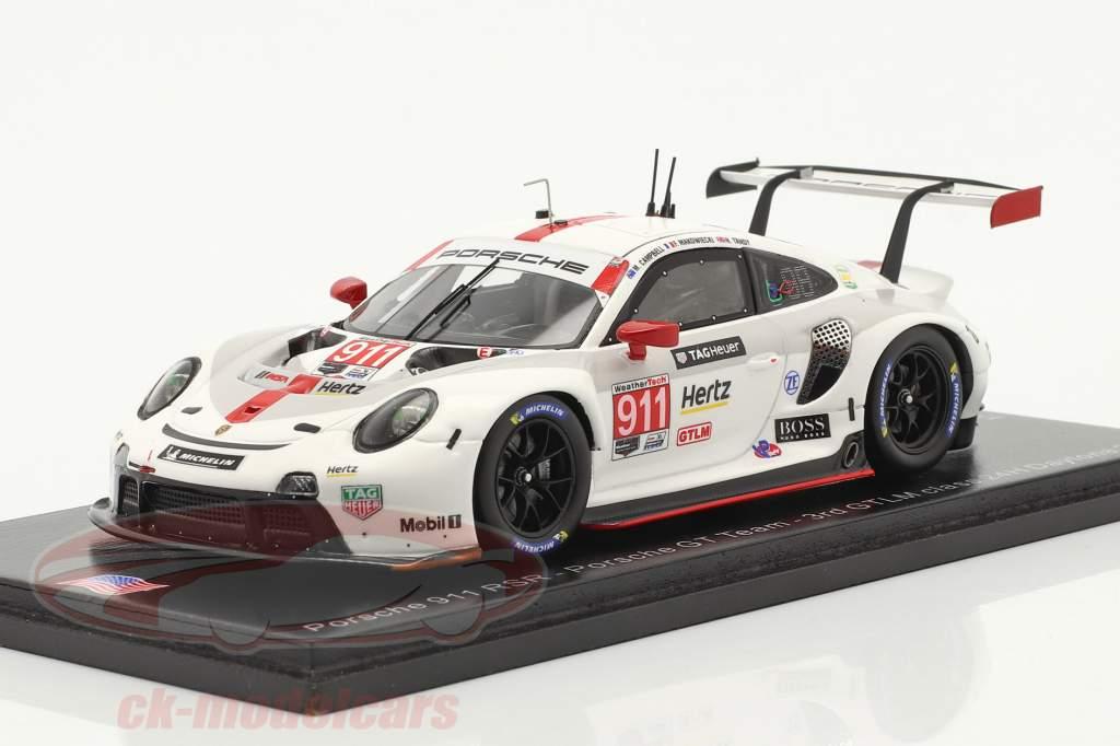 Porsche 911 RSR #911 3-й GTLM класс 24h Daytona 2020 Porsche GT Team 1:43 Spark