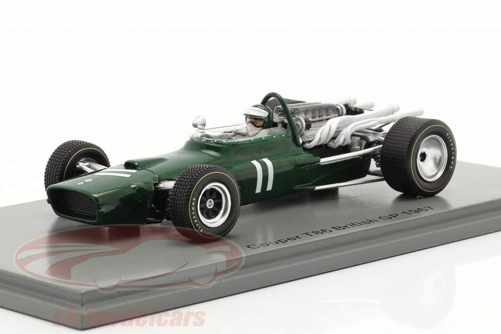 Jochen Rindt Cooper T86 #11 Großbritannien GP Formel 1 1967 1:43 Spark