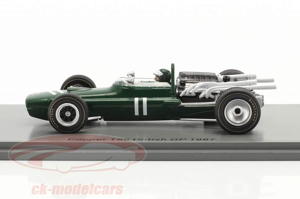 Jochen Rindt Cooper T86 #11 britânico GP Fórmula 1 1967 1:43 Spark