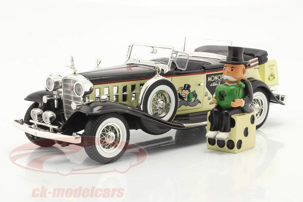 Cadillac V16 Sport Phaeton Baujahr 1932 mit Mr. Monopoly Figur 1:18 AutoWorld