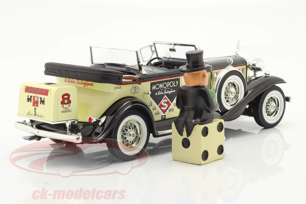 Cadillac V16 Sport Phaeton bouwjaar 1932 Met Dhr. Monopoly figuur 1:18 AutoWorld