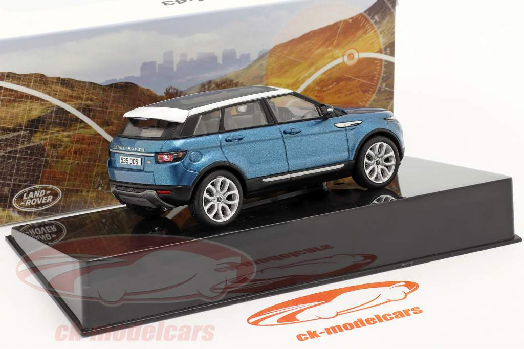 Land Rover Range Rover Evoque 5 portes mauritius bleu 1:43 Ixo
