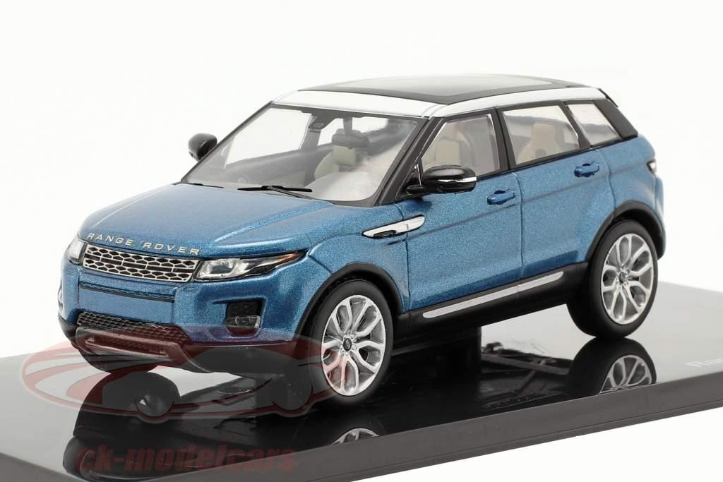 Land Rover Range Rover Evoque 5 puertas mauritius azul 1:43 Ixo