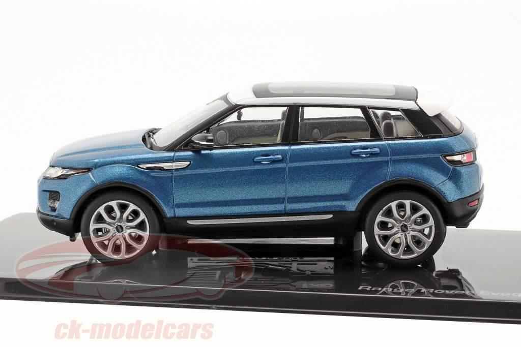 Land Rover Range Rover Evoque 5 portas mauritius azul 1:43 Ixo