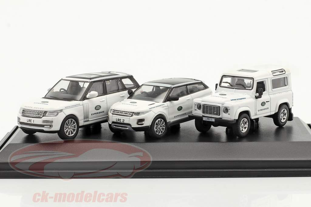 3-Car Set Land Rover Experience hvid 1:76 Oxford