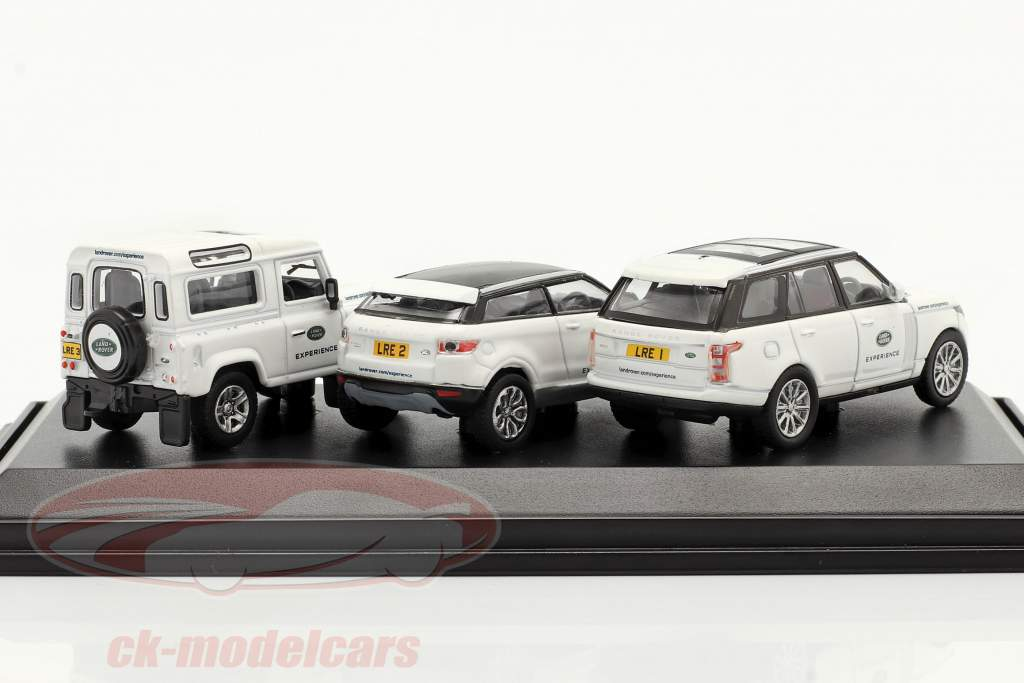 3-Car Set Land Rover Experience weiß 1:76 Oxford