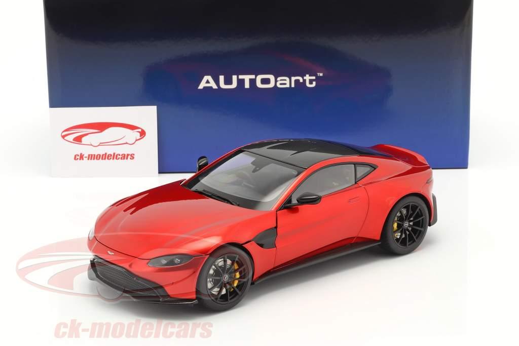 Aston Martin Vantage year 2019 hyper red 1:18 AUTOart